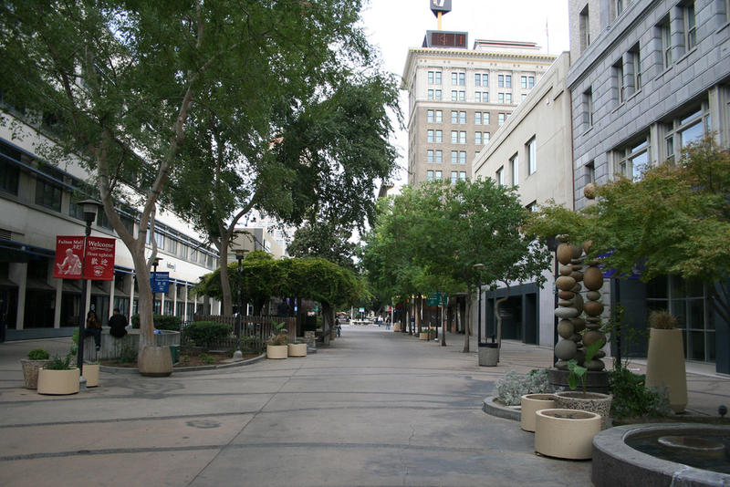 Fresno's Fulton Mall in downtown