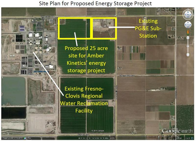 A map of the planned project in West Fresno.