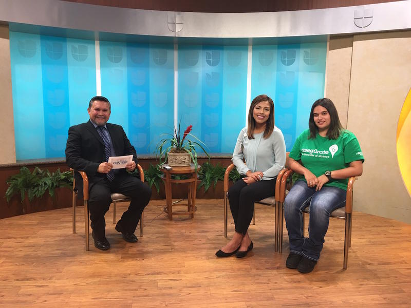 Yesenia Contreras and Emily Hernandez of Dignity Health interviewed on Univision