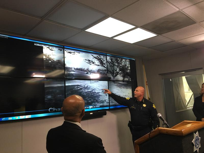 Fresno Police Chief Jerry Dyer lead a press conference on the arrest Tuesday March 29, 2016.