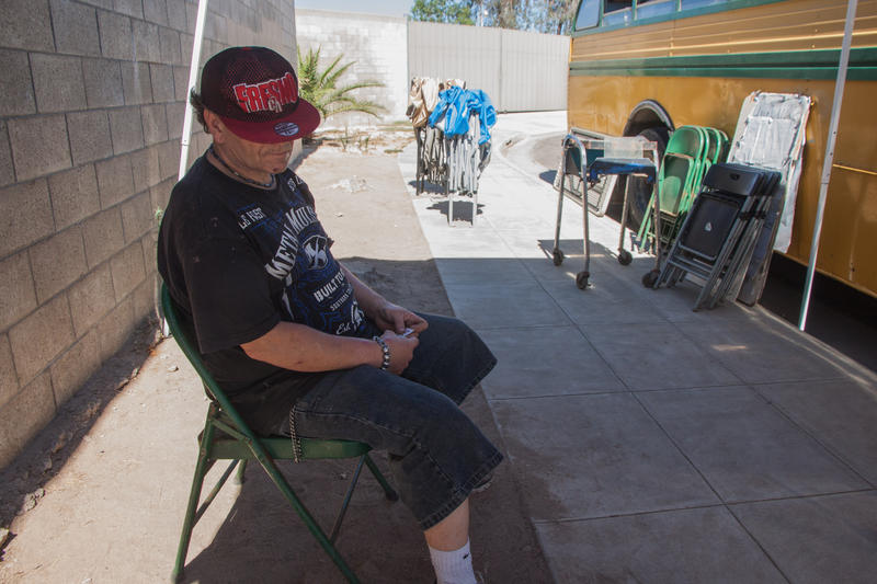 Fifty-six-year-old Michael, who won't share his last name, rides a bike or catches the bus every Saturday to obtain clean needles at the Fresno Needle Exchange.