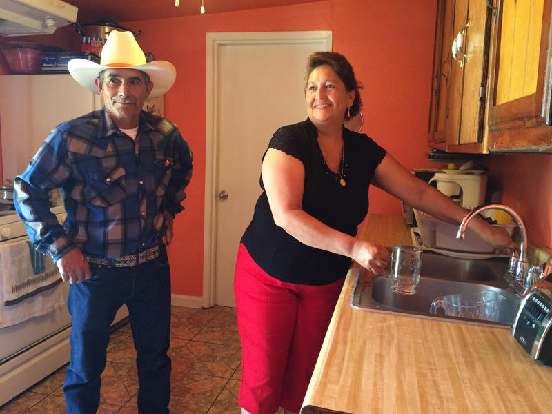 East Porterville residents Leonicio and Guillermina Ramirez can run their kitchen faucet for the first time in three years.