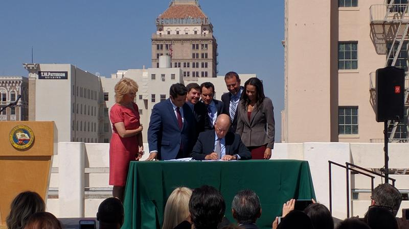 Governor Jerry Brown signs legislation