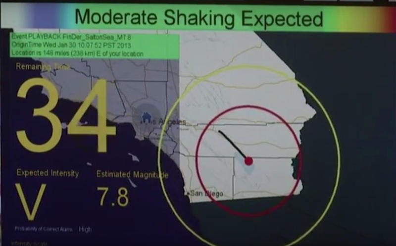 The system could provide over 30 seconds of advance notice before shaking begins in some cases.