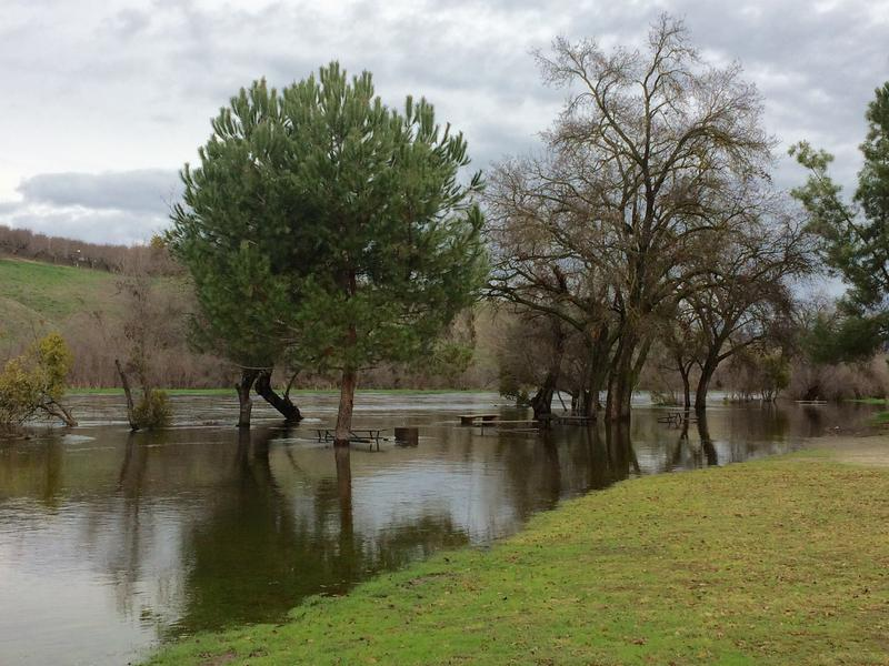 In early 2017, Lost Lake Park north of Fresno was closed to the public after heavy winter rains overtook picnic tables and parking lots.
