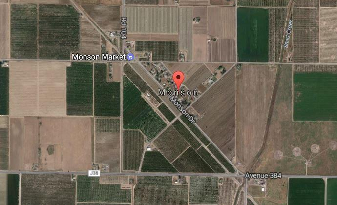 The community of Monson in Tulare County, California.