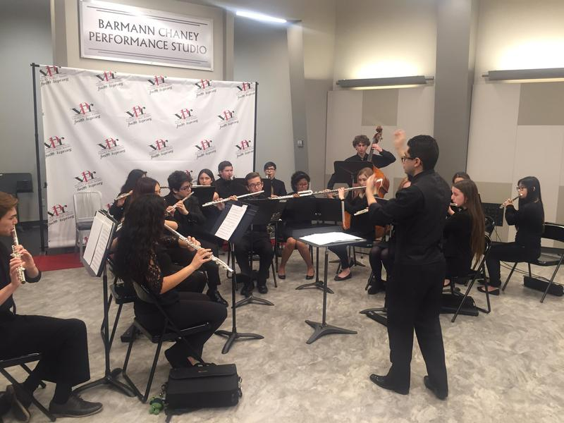 The University High School Flute Choir of Fresno performed on FM89's Young Artist's Spotlight