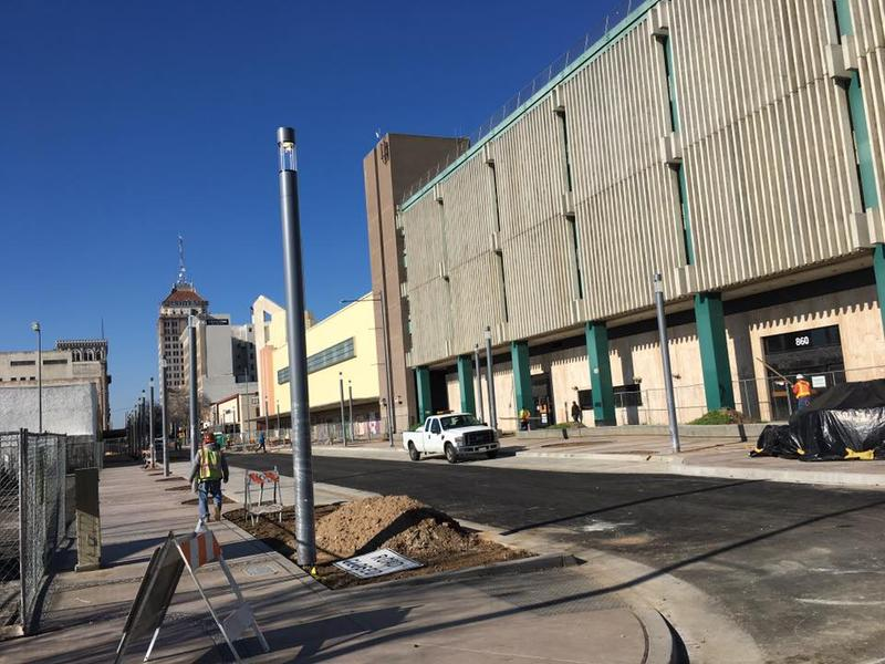 The southern portion of the Fulton Street project is nearly complete