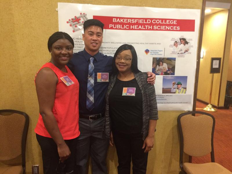 Bakersfield College public health students Elizabeth Patterson (right) and Calleshia Gilliam (left) plan to address sexually transmitted diseases with their hackathon projects.