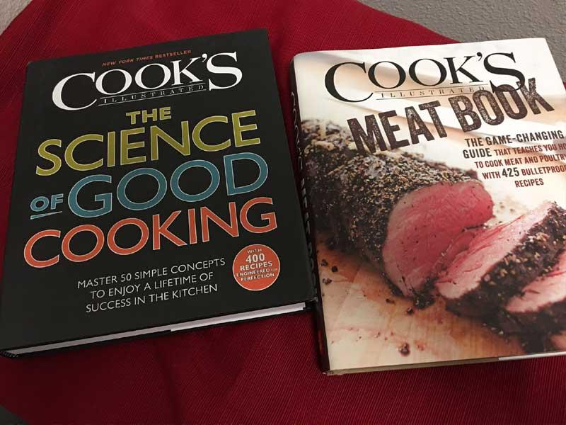 Cook's Illustrated cookbooks