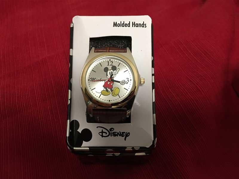 Mickey Mouse Watch with molded hands, courtesy of Jerry Palladino