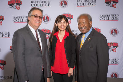 "Bryon Schaefer of KHSD, Sonya Christian of Bakersfield College and Horace Mitchell of CSUB are all partners in the project known as ""The Kern Promise"""