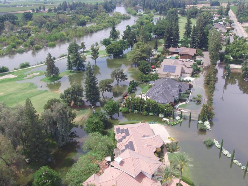 Flooding this past weekend at the Kings River Gold and Country Club led to the evacuation of about 90 homes.