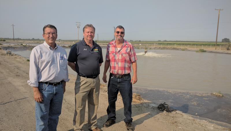 (left to right) Farmersville City Manager John Jansons, Director of Public Works Jeff Dolan, and  Mayor Paul Boyer