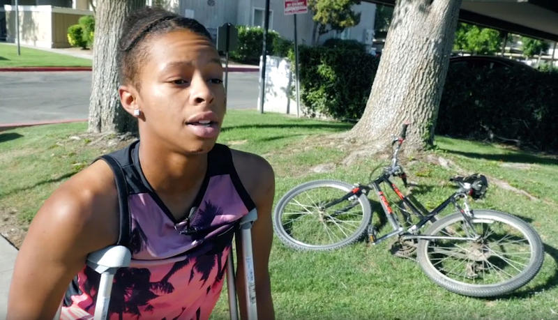19-year-old Tatyana Hargrove tells her story in an online video posted by the Bakersfield NAACP