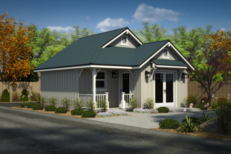 One of three cottage home designs available from the City of Clovis.