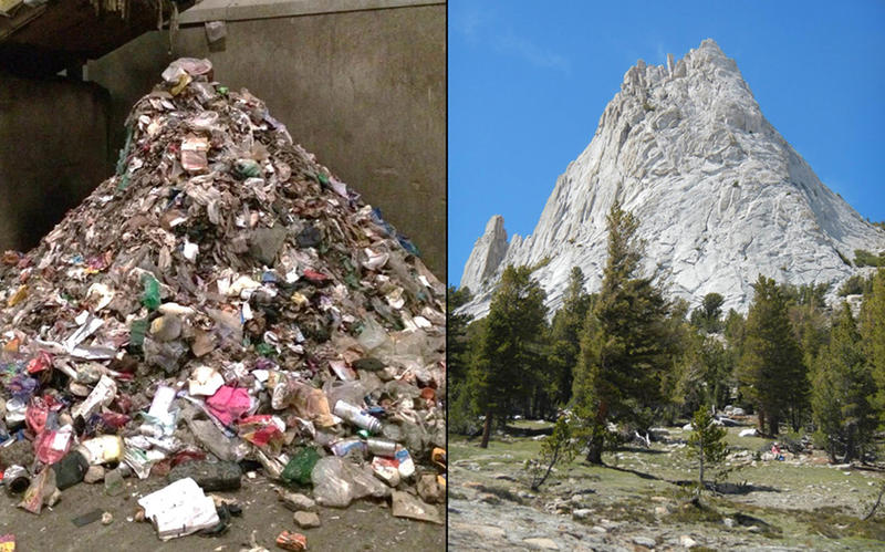 Visitors to Yosemite leave behind 2,200 tons of garbage per year. That is equal to 3,919 dumpsters full of trash.