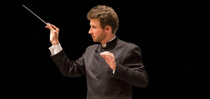 Music director Stilian Kirov leads the Bakersfield Symphony Orchestra