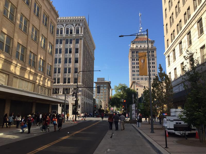 Crowds gathered on Fulton Street Saturday Oct 21st for the official opening of the six-block long project.
