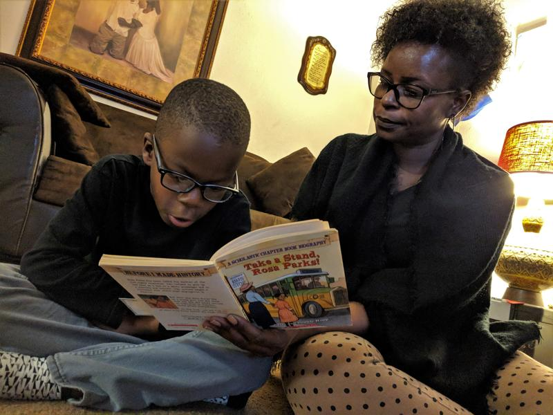 Six-year-old Adrian Lee, pictured here with his mother Nicole Hutchings, was born at 32 weeks. In Fresno County, African American women are as much as 75 percent more likely to deliver a baby preterm than white women.