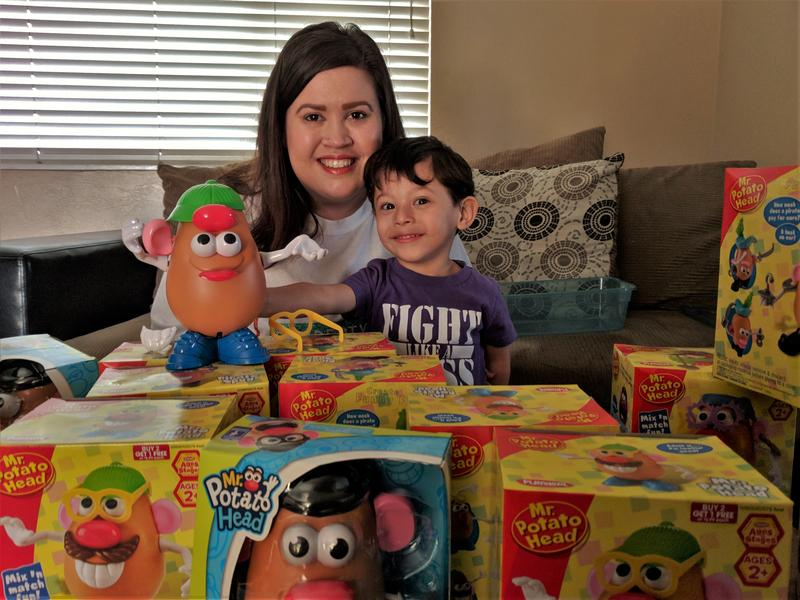 Last December, Ashlee Alvarez collected over 200 donated Potato Head dolls to donate to the NICUs that had treated Ami when he was born weighing just one pound. This year, she's aiming to collect even more.
