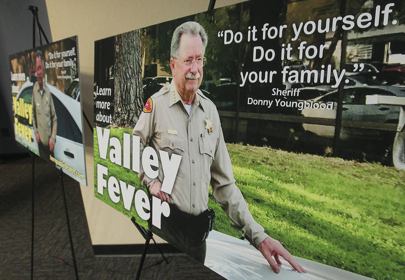 Kern County Sheriff Donny Youngblood is featured in a new valley fever awarness campaign