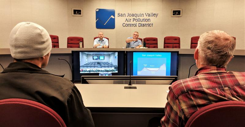 The San Joaquin Valley Air Pollution Control District offers Fireplace Compliance School three times every winter to first-time violators of wintertime burning restrictions.