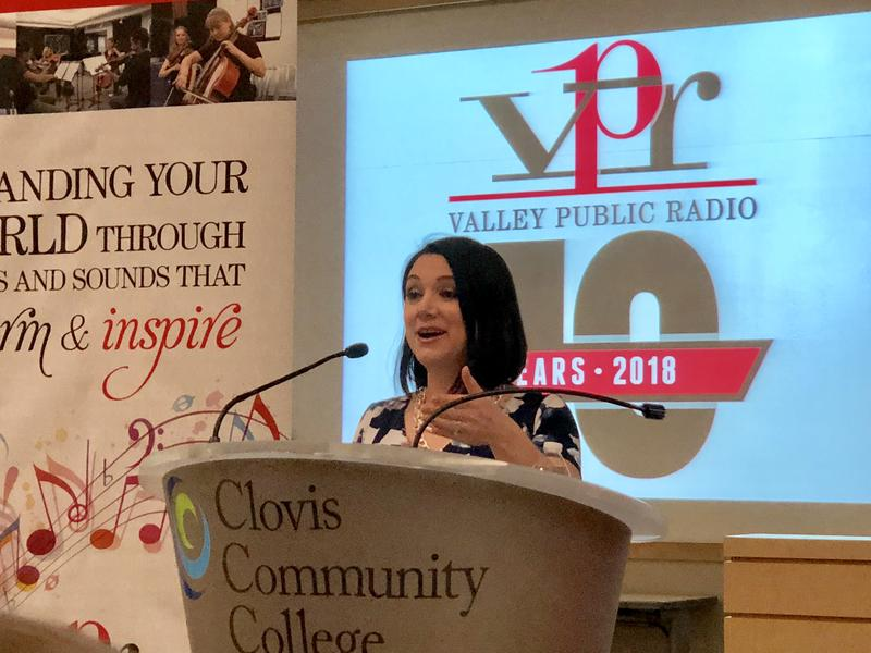 Tamara Keith spoke at an event for Valley Public Radio February 24, 2018 in Fresno.