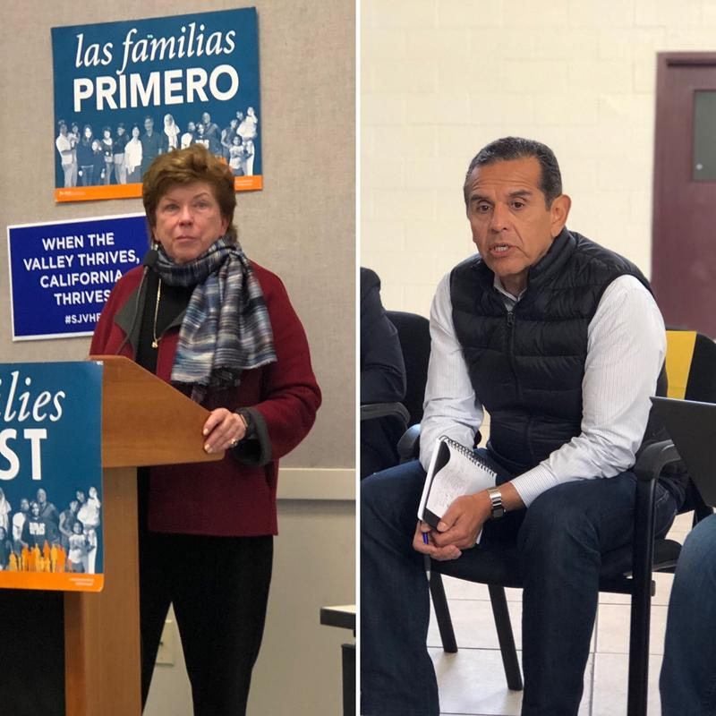 Gubernatorial candidates Delaine Eastin and Antonio Villaraigosa met with Central Valley residents.