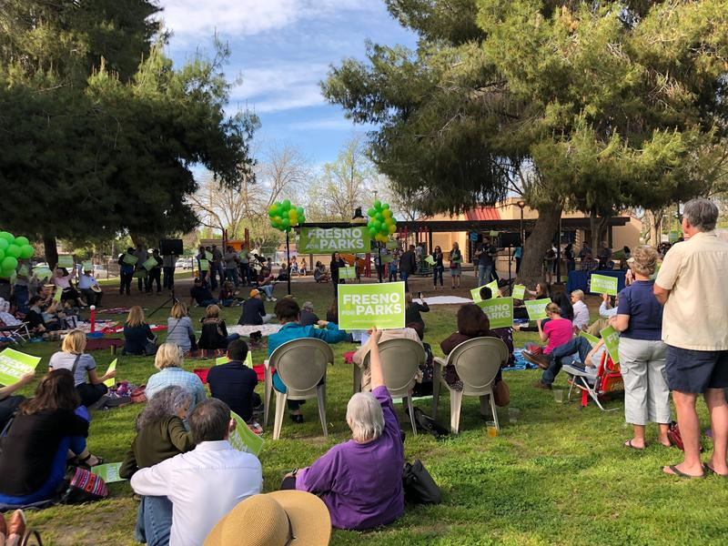 Fresno for Parks kicked off their campaign to raise money for parks, arts, and trails via a sales tax.
