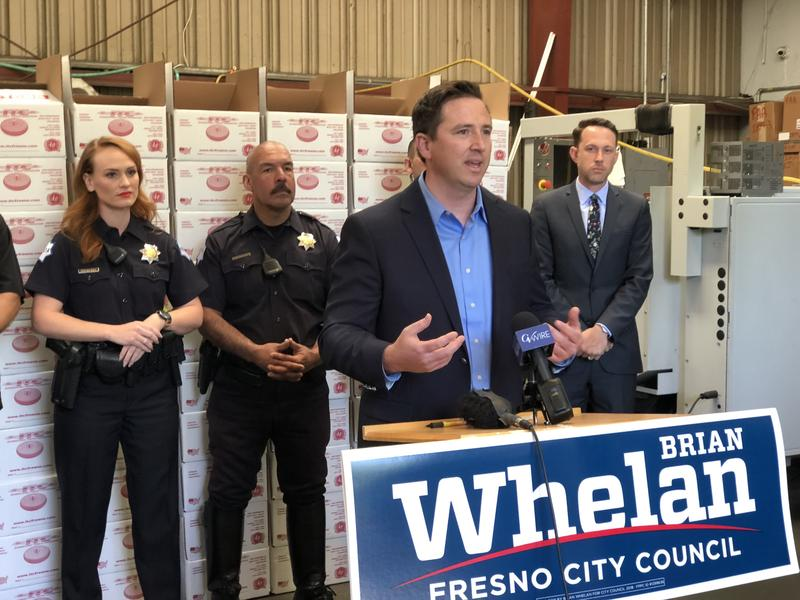 Brian Whelan accepted endorsements from the Fresno Police Officers Association and Chief Jerry Dyer.