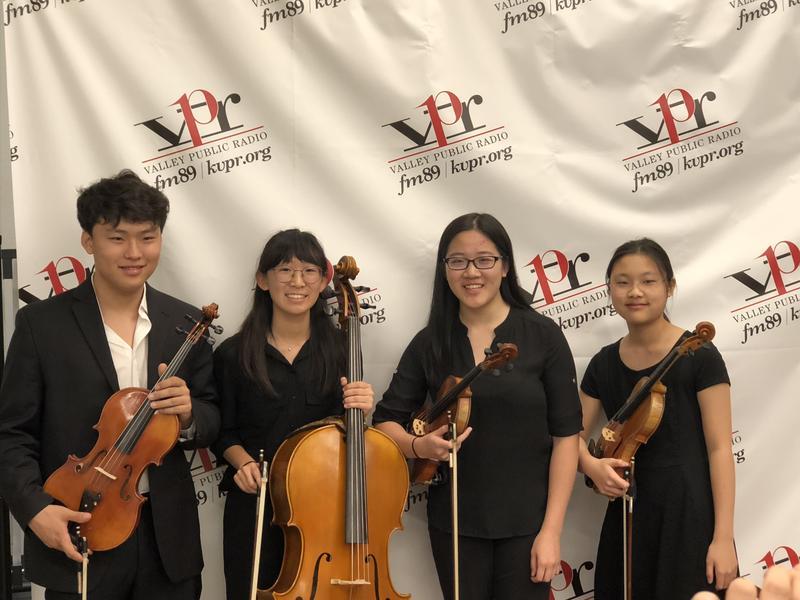 Kelsey Jian (violin) Claire Park (violin) John Son (viola)  Shannon Lee (cell0)