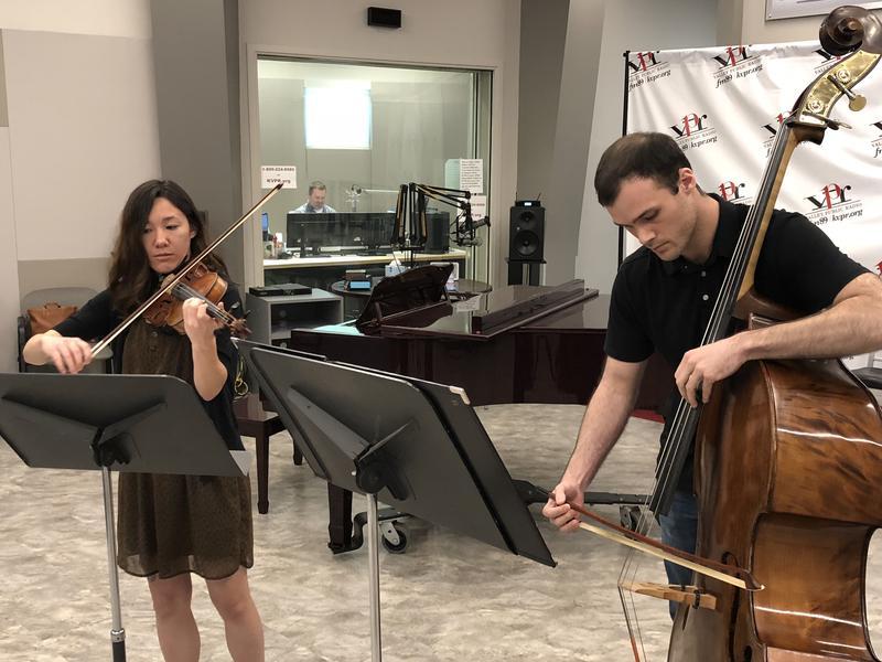 Violinist Lianna Stuart and bassist Shawn Toner