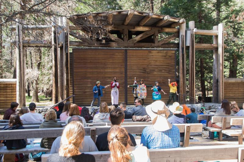 "For Earth Day weekend, students, park rangers and professional actors starred in a modern, Yosemite-centric adaptation of Shakespeare's ""A Midsummer Night's Dream."""