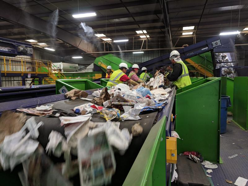 Restrictions on imports of recyclables into China have left recycling companies scrambling to find space to stockpile materials while they find new destinations for them.