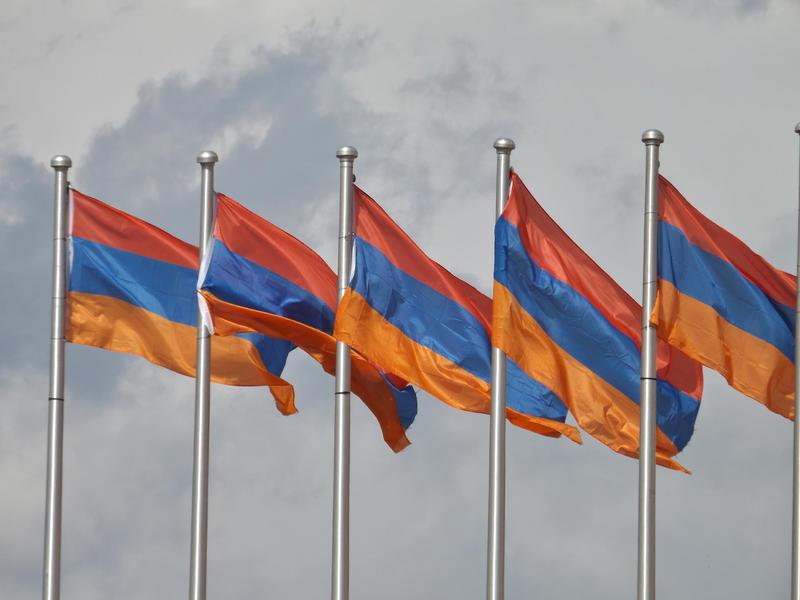 File photo - Several Armenian flags