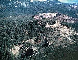 The Inyo Craters are part of the Long Valley Caldera in Eastern California