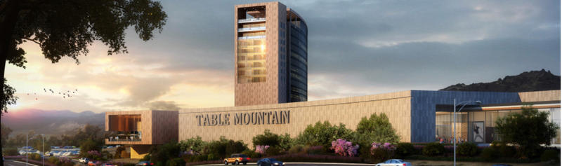 A rendering of the proposed Table Mountain hotel tower and casino facility.