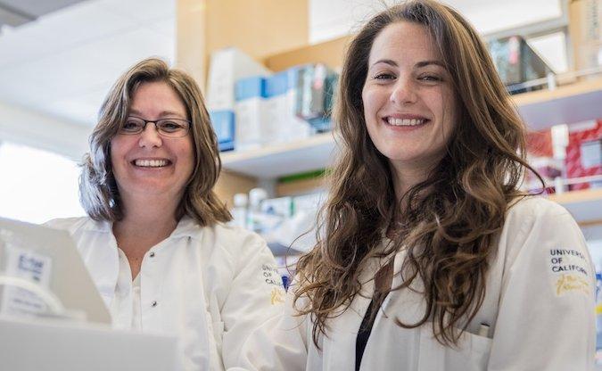 UC Merced graduate student Kristen Valentine and UC Merced Professor Katrina Hoyer