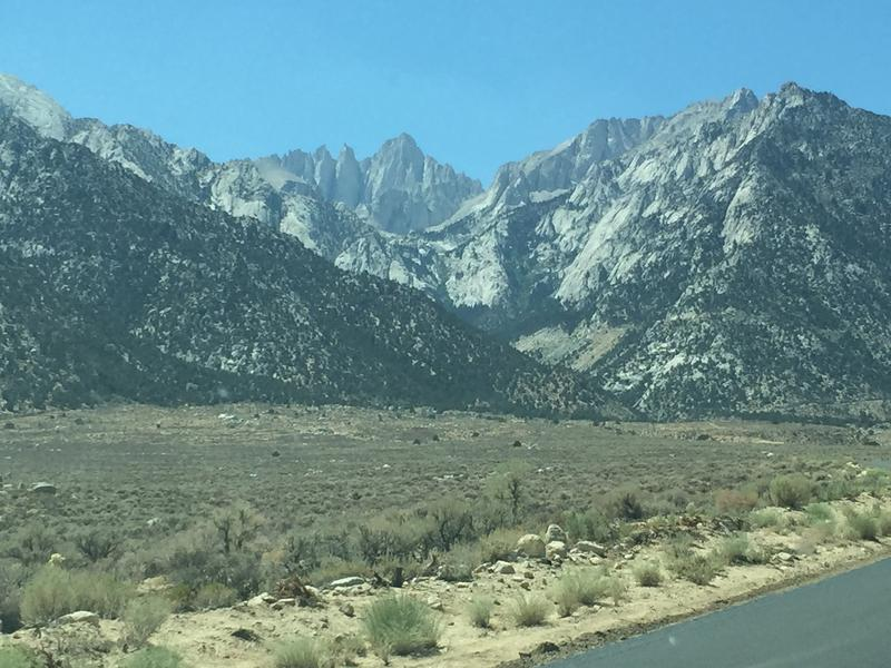 Mount Whitney dominates the landscape of the eastern Sierra near Lone Pine