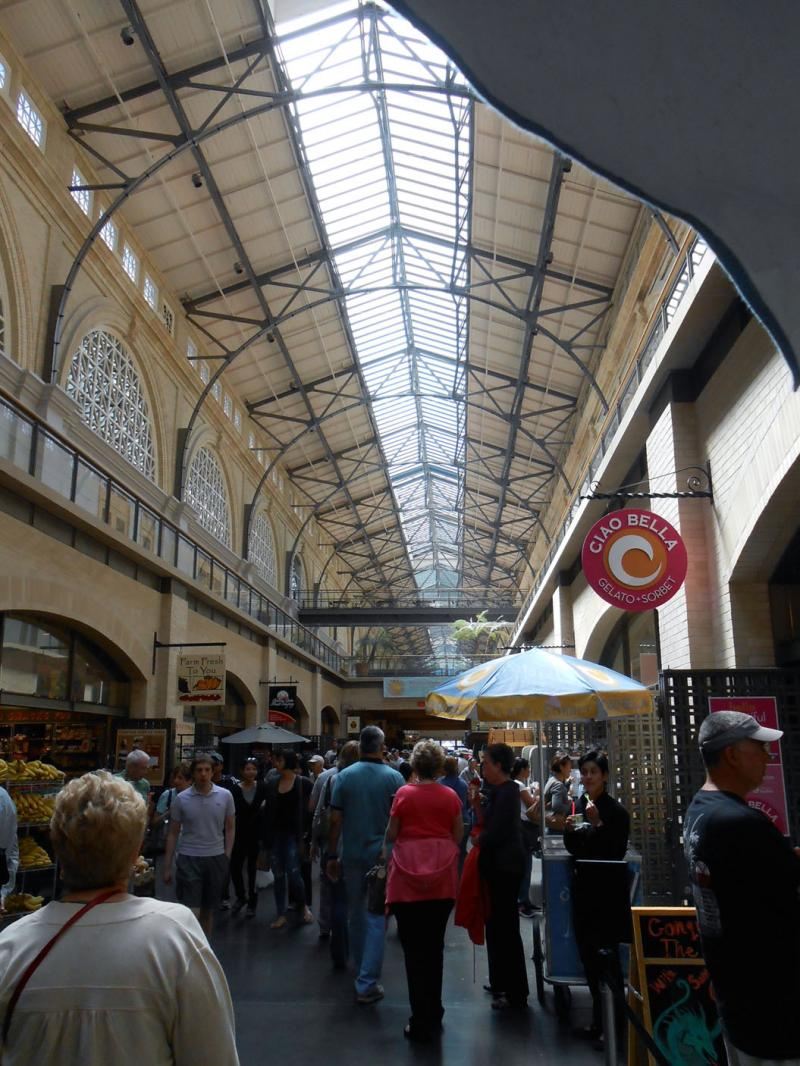 San Francisco's popular Ferry Building public market is cited as an example of what Fresno leaders would like to create locally.