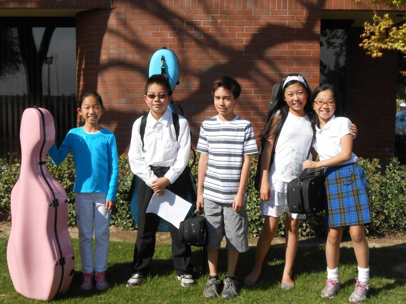 Olivia Lin, Luke Zhao, Benjamin Pegram, Hope Yuan, and Emilea Okayasu