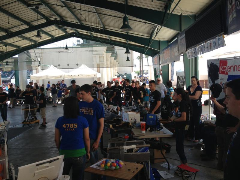 Valley high school robotics teams gathered at the Mini Makers Fair to show off their newest robots.