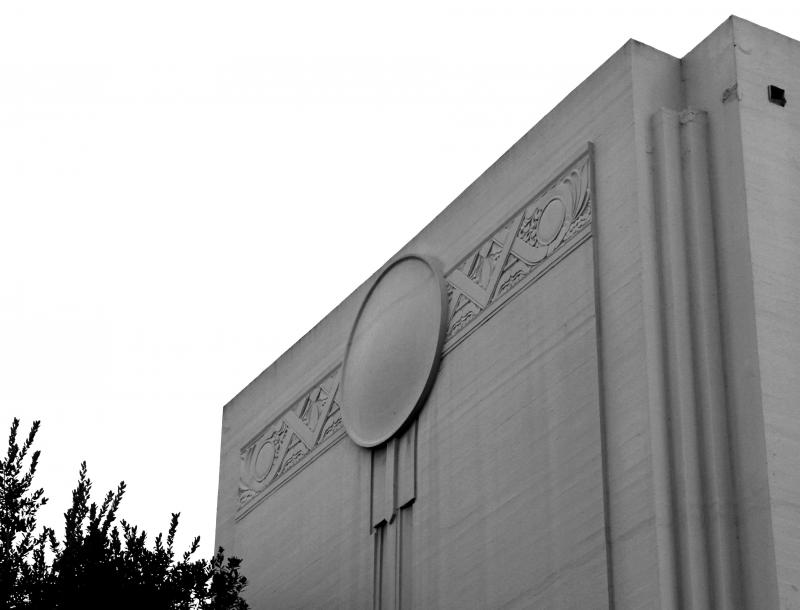 Allied Architects used Art Deco oranmentation to help break up the massive concrete flanks of the Memorial Auditorium