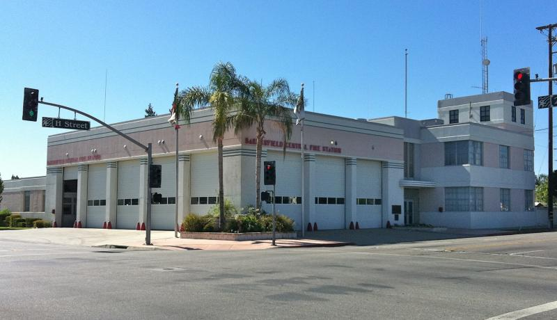 Bakersfield's Central Fire Station (1939) by architect Charles Biggar wouldn't look out of place in Miami