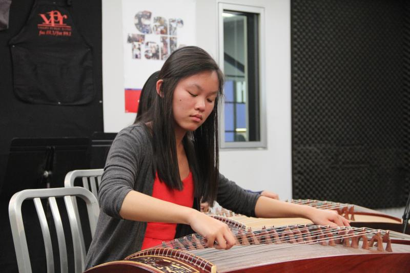 Sisters Hannah and Megan Tran played the Chinese zither on Young Artists Spotlight
