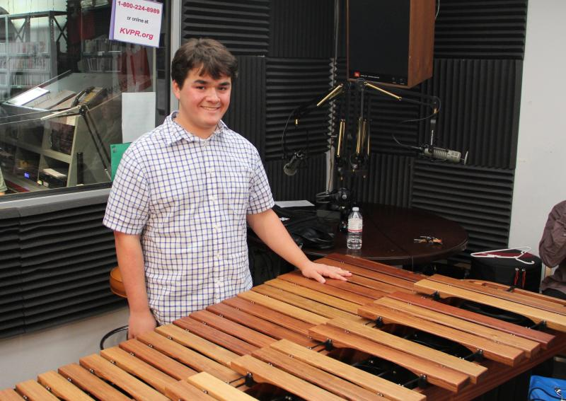 Aaron Grisez performs on Young Artists Spotlight