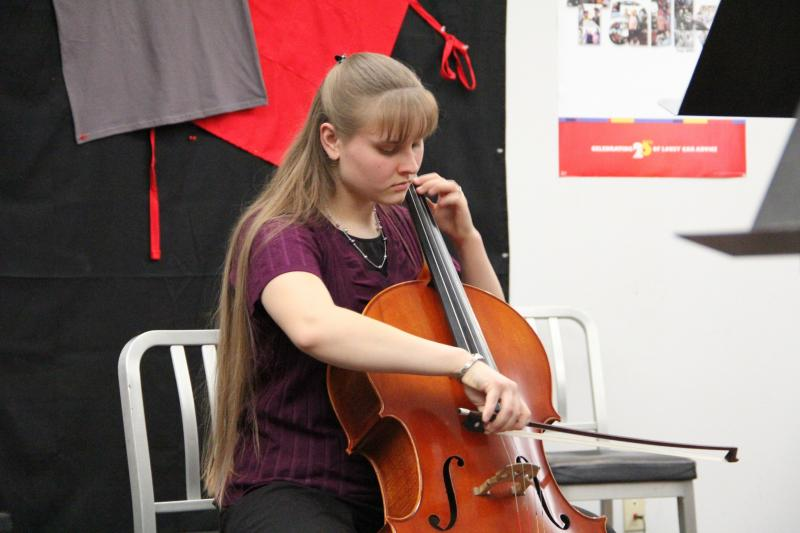 Cellist Anna McCoy performs on FM89's Young Artist Spotlight