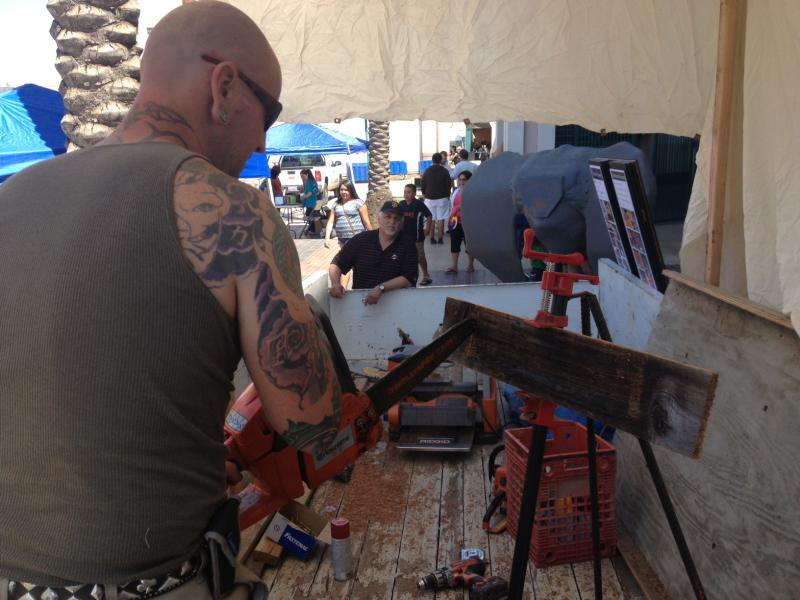 Steve Doroski saws all kinds of objects, but his expertise is in pirate ships.