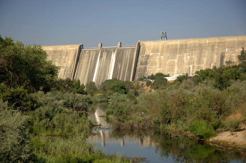 Friant Dam, a part of the Central Valley Project, on the San Joaquin River